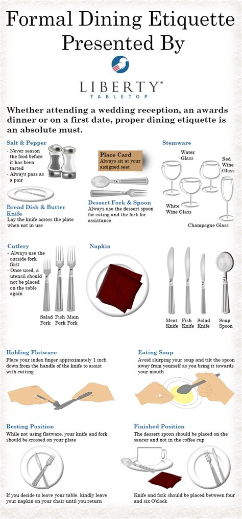 Dining Table Etiquette Tips Etiquette Do S And Don Ts Of Formal Dining Receptions