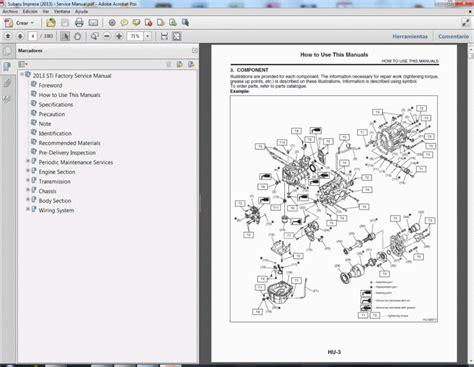 Subaru Impreza 2012 2013 Service Manual Wiring Diagram