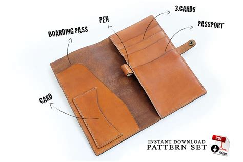 leather card holder wallet template travel wallet patterns tutorial am leathercraft