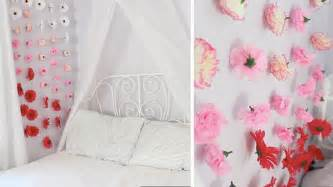 How To Decorate A Room With Flowers Apartment Decor Diy Flower Wall Chains Youtube