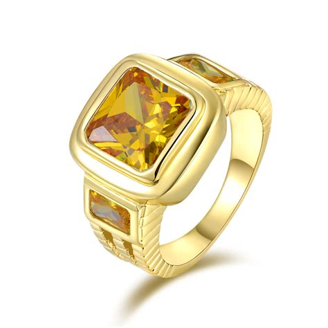 size  fashion rings  mens solitaire topaz