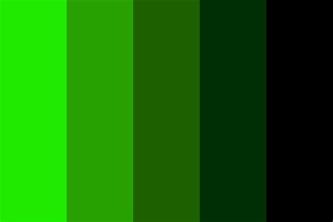 green color palette green to black color palette