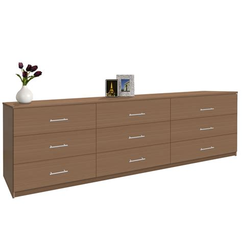 Tripple Dresser by Modern 9 Drawer Dresser 8 Contempo Space