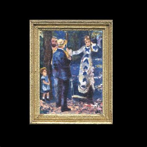 swing house artists la balancoire miniature painting kay burton artist