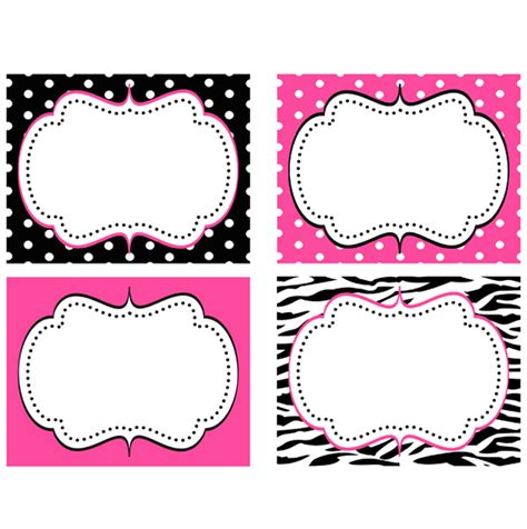printable zebra print labels minnie mouse pink zebra food labels