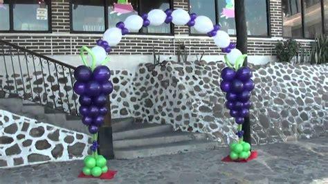 imagenes de uvas en globos decoracion canita y arco comunion chasty youtube