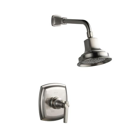 Shower Faucet Temperature by Kohler Bancroft 1 Handle Shower Faucet Trim In Vibrant Brushed Nickel Valve Not Included K