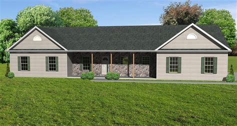 The Ranch House by Great Room Ranch House Plan Ranch Houseplan With