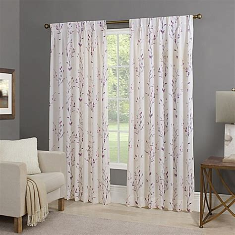 back tab panel curtains willow back tab window curtain panel bed bath beyond