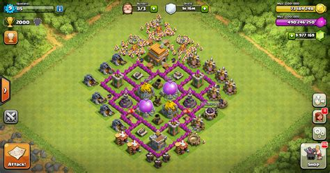 desain layout coc th 6 farming base clash of clans th 6 design base clash of
