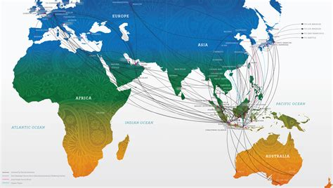 batik air route map international flight routes garuda indonesia