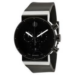 movado sapphire synergy black chronograph s