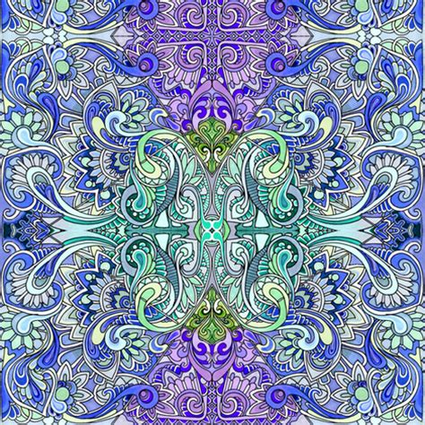 psychedelic paisley overload fabric edsel2084 spoonflower