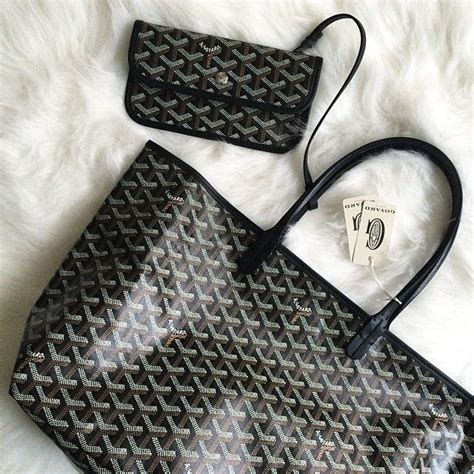 Bag Ig goyard st louis tote in classic black chevron ig pic by