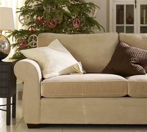 pottery barn loveseat pearce upholstered sofa pottery barn