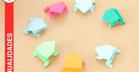 Activity Tv Origami - origami ranas papel saltarinas jumping frog
