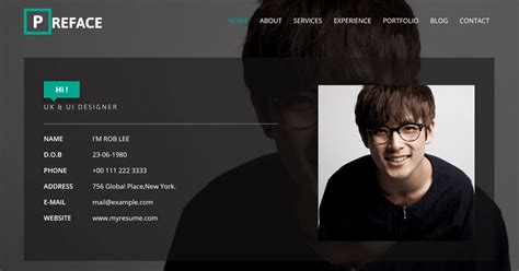 Personal Website Template by 25 Best Free Personal Website Templates And Resources