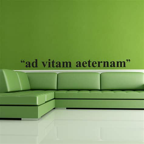 ad vitam aeternam cuisine stickers muraux citations sticker ad vitam aeternam