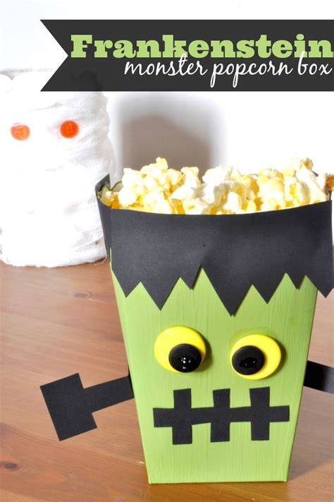 decorative boxes love how the finial repeats the shape frankenstein monster popcorn box