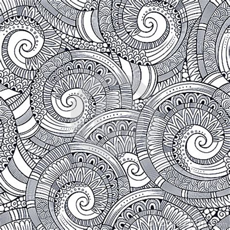 how to use spiral doodle vector spiral decorative doodles pattern stock vector