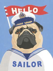 pug sailor pug sailor original metal sign company