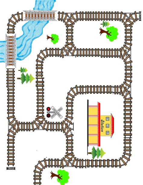 Craftowntoys Railroad Track Toys Papercraft printable tracks coloring europe travel