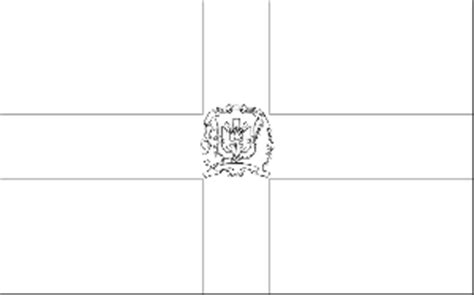 dominican republic flag coloring page
