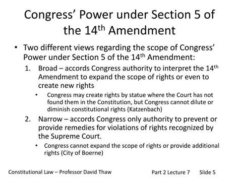 14th amendment section 5 ppt constitutional law powerpoint presentation id 3065978