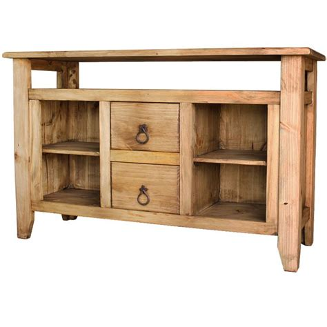 Rustic Console Table With Drawers by Rustic Pine Collection San Marcos Console Table W 2