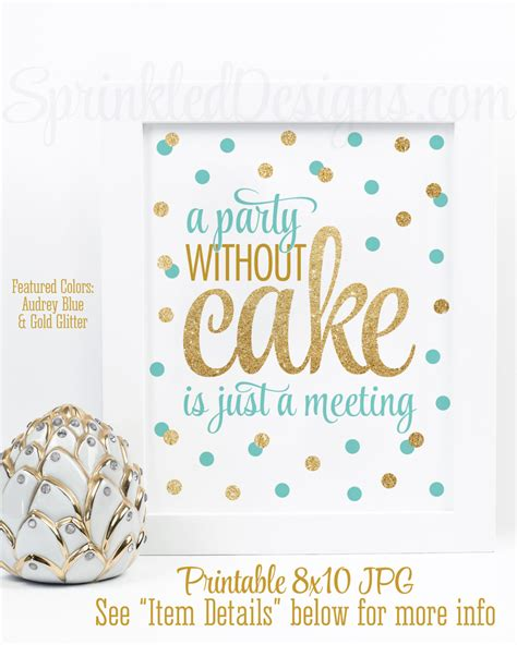 wedding cake quotation a without cake is just a meeting blue gold