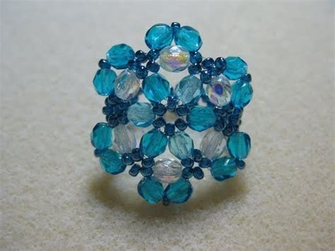 my daily bead blue ring