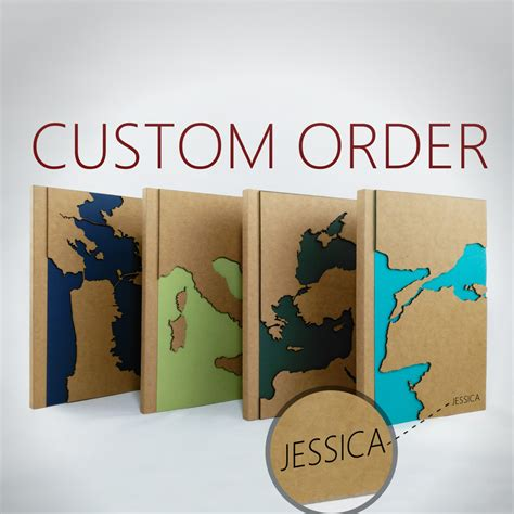 custom gifts custom map travel notebook personalized gift maps unique