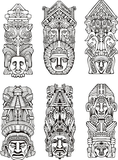 imagenes de totems aztecas coloriage de totem azt 232 que