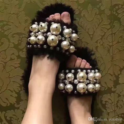 Sandal Wedgest Dh 171 2016 fashions fur pearl personality sandals casuals slip