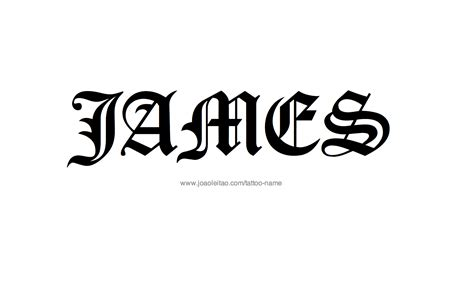james tattoo name designs