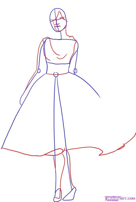 Drawing Models by How To Draw A Fashion Model Step By Step Fashion Pop