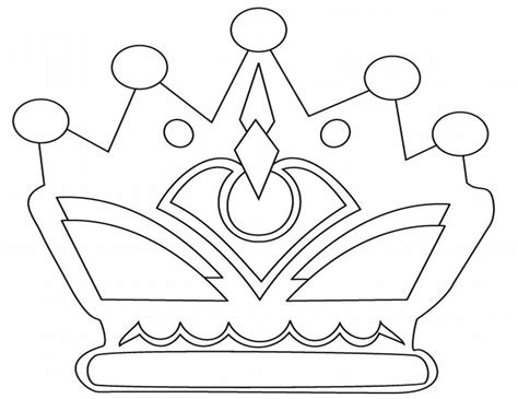 printable crown to color free crownqueen crown coloring pages