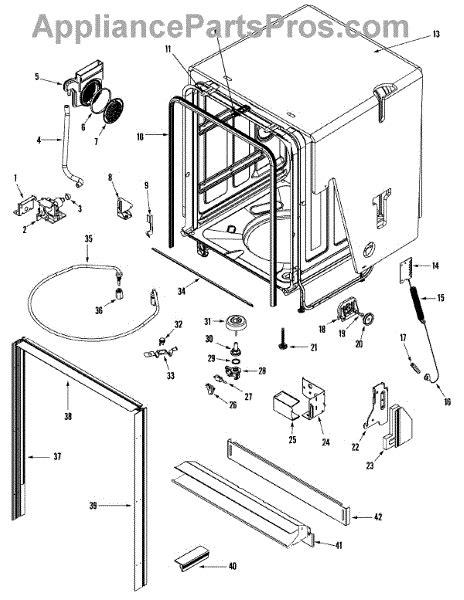 jenn air dishwasher parts diagram parts for jenn air jdb1250awp tub parts
