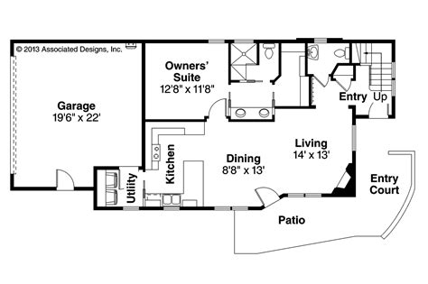 Home Design For Rectangular Plot Contemporary House Plans Parkview 30 905 Associated