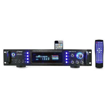 pyle p2002abti 2000w hybrid receiver & pre amplifier w/am