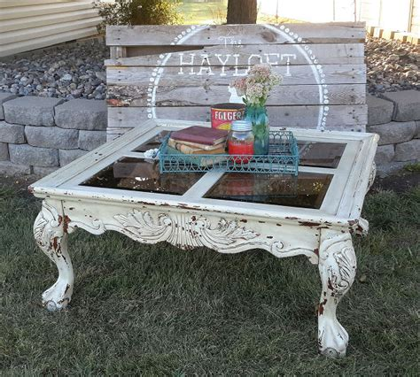 hometalk shabby chic coffee table paint redo