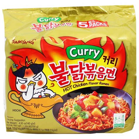 Samyang Chicken Ramen 5 Pcs samyang spicy chicken cold stir ramen 5 5 3 oz packs 151g