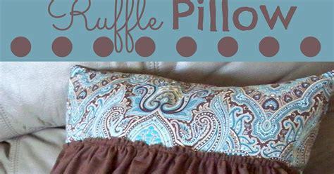Ruffle Pillow Tutorial by Ruffle Pillow Tutorial Adventures Of A Diy