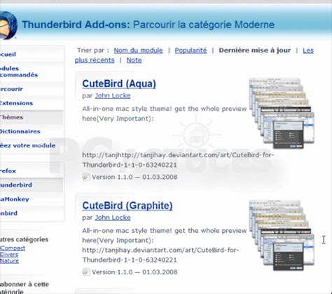 telecharger themes jar personnaliser l interface avec des th 232 mes thunderbird
