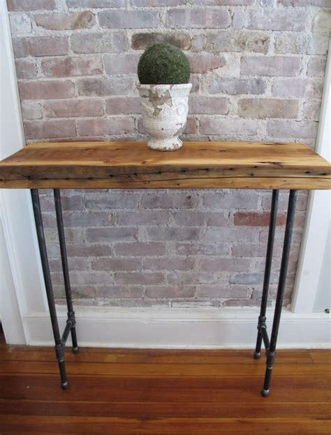 sofa table with pipe legs hallway console table with iron pipe legs and by