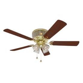 How To Install A Harbor Ceiling Fan With Remote Shop Harbor Wolcott 52 In Polished Brass Flush