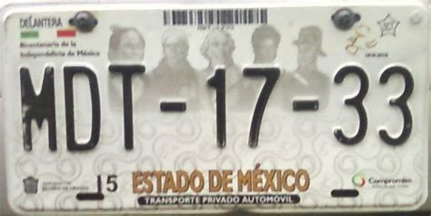 placas del estado de mexico placas de autos de m 233 xico y otras cos 999 as cambio de