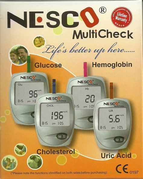 Alat Tes Gula Dan Kolesterol jual alat cek darah 3in1 gula asam urat kolesterol murah
