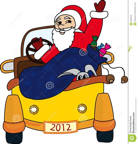 animated santa driving santa claus stock photo image 22069160