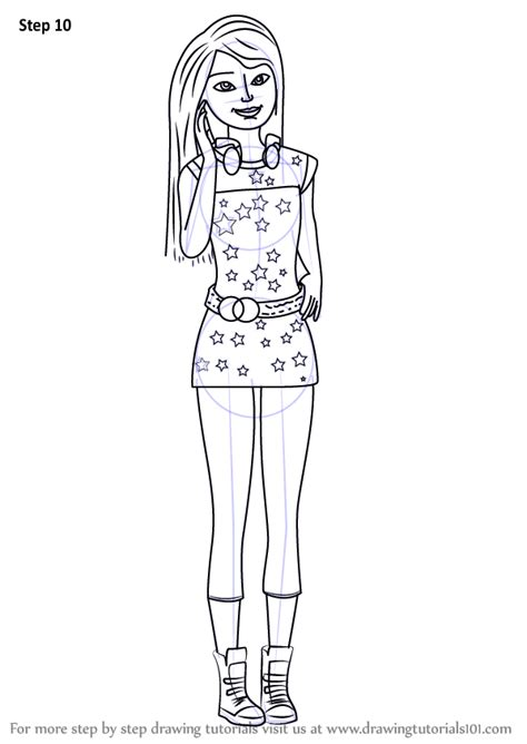 Learn How To Draw Skipper From Barbie Life In The Skipper Coloring Pages
